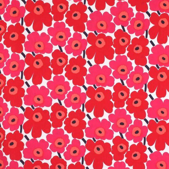 マリメッコ 生地(布)66475-1 MINI UNIKKO(ミニウニッコ) 赤
